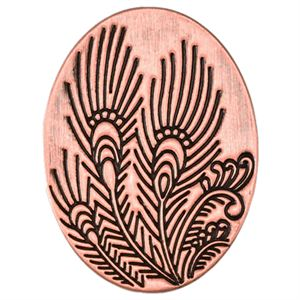 Picture of Rose Gold Peacock Feather Oval Screen